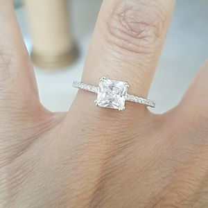 Jewelry - 1ct Princess cut Engagement Ring size 8